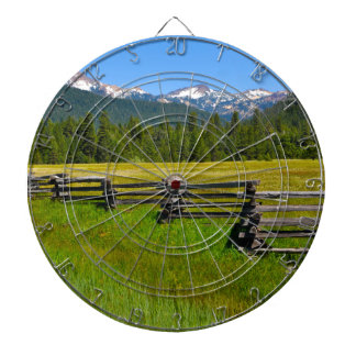 Mount Lassen National Park in California Dartboard