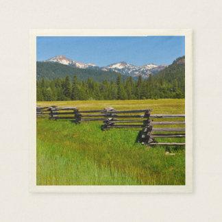 Mount Lassen National Park in California Disposable Serviettes