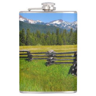 Mount Lassen National Park in California Flasks