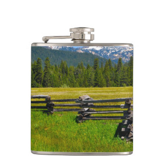 Mount Lassen National Park in California Hip Flask