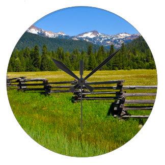 Mount Lassen National Park in California Large Clock