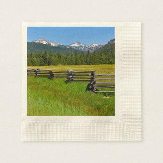Mount Lassen National Park in California Paper Napkins