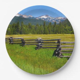 Mount Lassen National Park in California Paper Plate