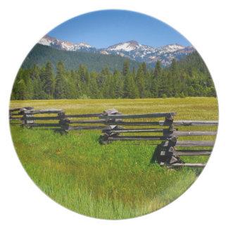 Mount Lassen National Park in California Plate