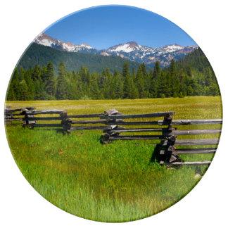 Mount Lassen National Park in California Porcelain Plate