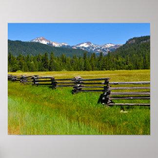 Mount Lassen National Park in California Poster