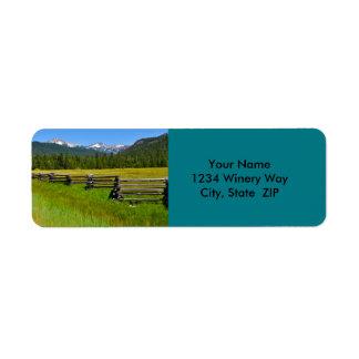Mount Lassen National Park in California Return Address Label