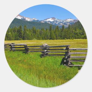 Mount Lassen National Park in California Round Sticker