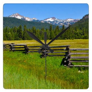 Mount Lassen National Park in California Square Wall Clock