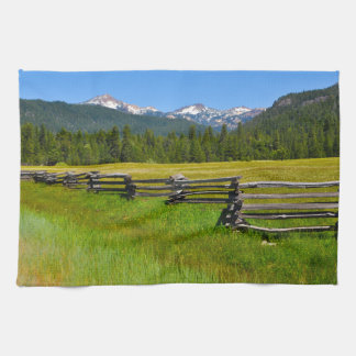 Mount Lassen National Park in California Tea Towel