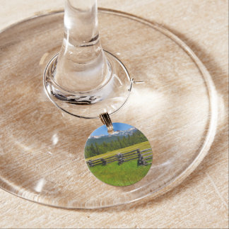 Mount Lassen National Park in California Wine Charm