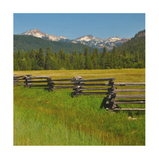 Mount Lassen National Park in California Wood Canvases