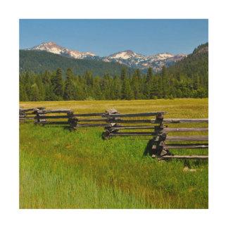 Mount Lassen National Park in California Wood Wall Art