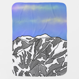 Mount Logan illustration Baby Blanket
