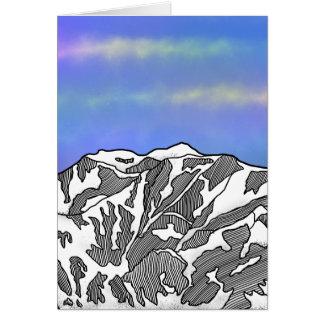 Mount Logan illustration Card