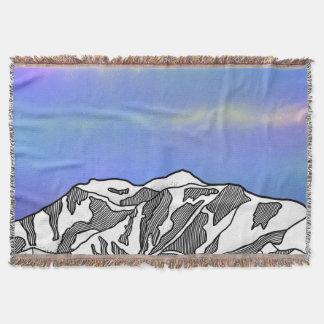 Mount Logan illustration Throw Blanket