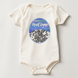 Mount Logan lnadscape Baby Bodysuit