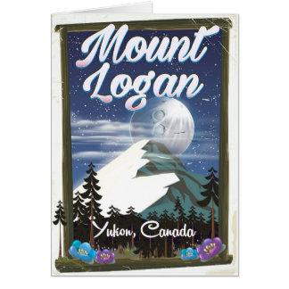 Mount Logan , Yukon, Canada Card