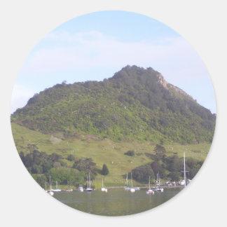 Mount Maunganui, Mauao, New Zealand Aotearoa Classic Round Sticker