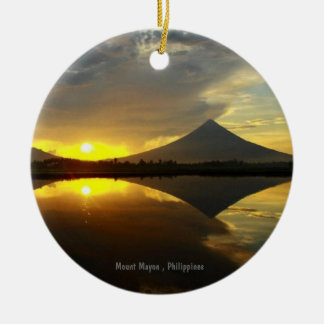 Mount Mayon Volcano, Philippines Circle Ornament