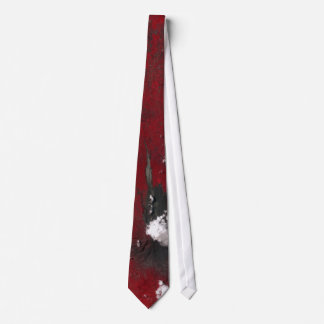 Mount Merapi Abstract Red Necktie