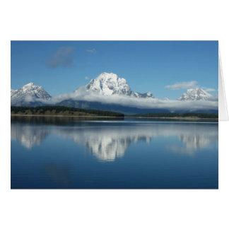 Mount Moran Reflection at Grand Teton Card