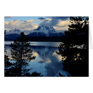 Mount Moran Reflection Card