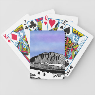 Mount Olympus Greece Illustration Bicycle Playing Cards
