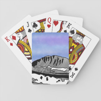 Mount Olympus Greece Illustration Playing Cards