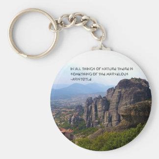 Mount Olympus Greece Monastery Aristotle Quote Key Chains