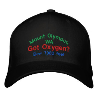 Mount Olympus Washington Elevation Cap Baseball Cap