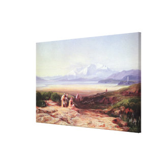 Mount Parnassus, Lake Cephissus and the Plains of Stretched Canvas Print