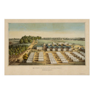 Mount Pleasant Hospitals in Washington, DC 1862 Poster