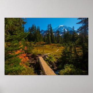 Mount Rainer, Spray Park autumn Poster