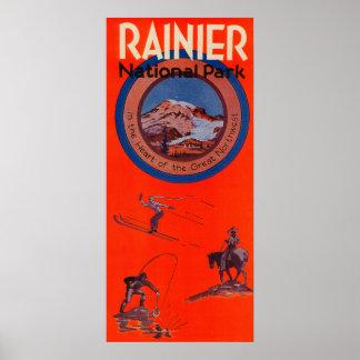 Mount Rainier Advertising Poster