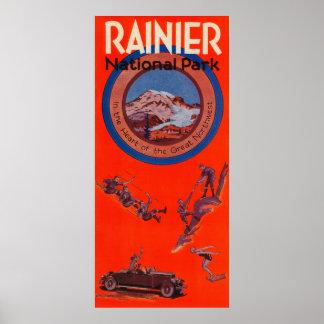 Mount Rainier Advertising Poster 2