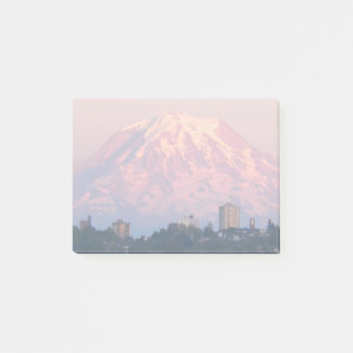 Mount Rainier Alpenglow Photo Post-it Notes