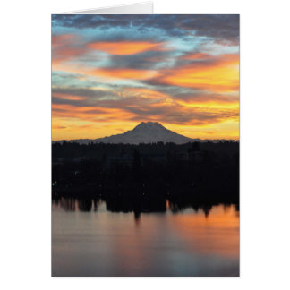 Mount Rainier and Capitol Lake Greeting Card