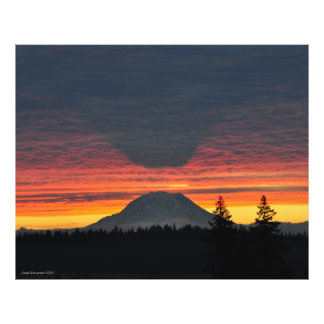 Mount Rainier and its Shadow in Large Format Photo Print
