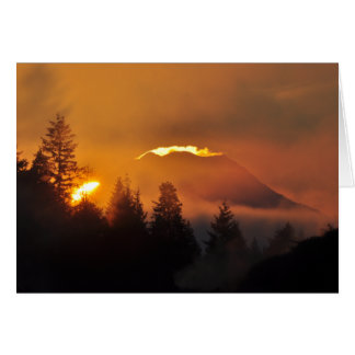 Mount Rainier at Sunrise Card