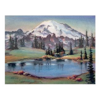 MOUNT RAINIER by SHARON SHARPE Postcard