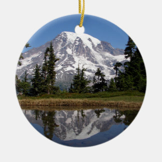 Mount Rainier Ceramic Ornament