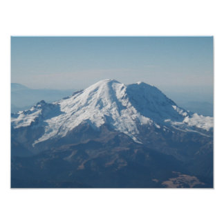 Mount Rainier from air Poster