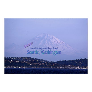 Mount Rainier from the Puget Sound Poster
