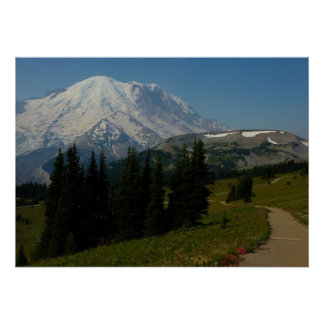 Mount Rainier from the Sourdough Ridge Trail Poster