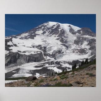 Mount Rainier Glacier Vista Poster