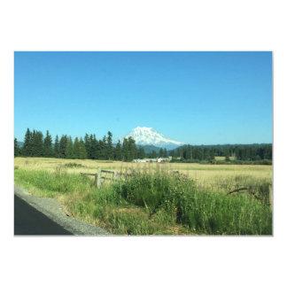 Mount Rainier Greeting Cards Horizontal. 13 Cm X 18 Cm Invitation Card