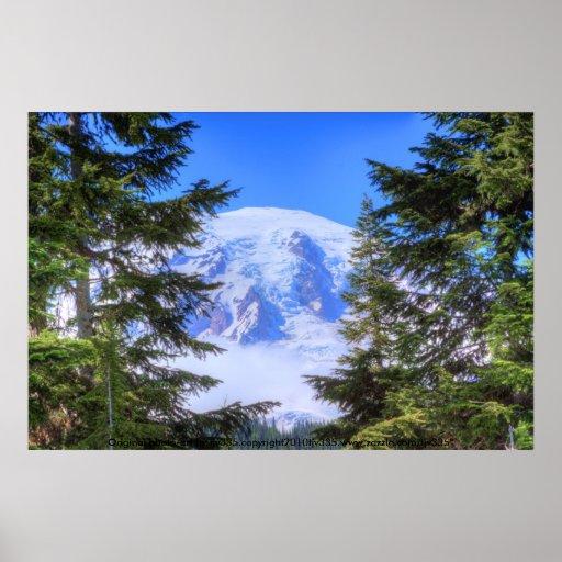 Mount Rainier HDR Poster