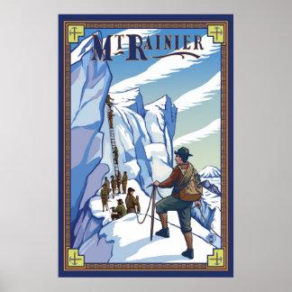 Mount Rainier - Ice Climbing - Travel Poster