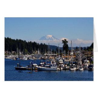 Mount Rainier in Gig Harbor, WA Greeting Card